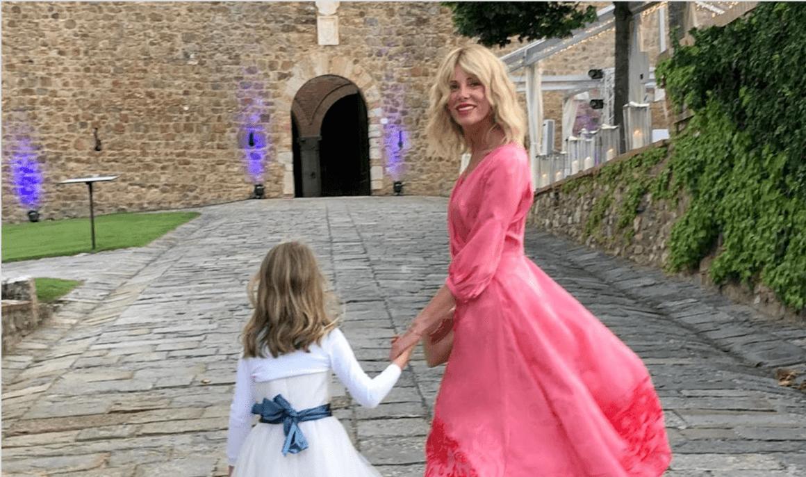 Alessia Marcuzzi al matrimonio dell'ex Simone Inzaghi: 'Che emozione'