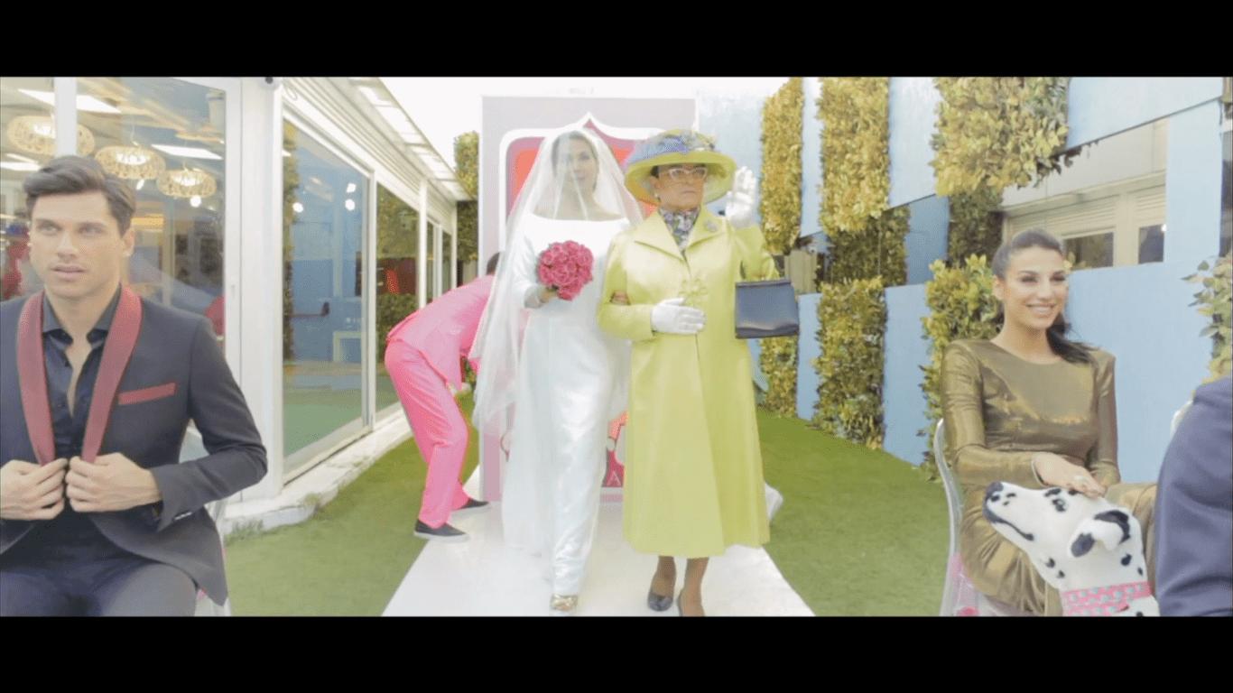 Barbara D'Urso e Cristiano Malgioglio in stile royal wedding