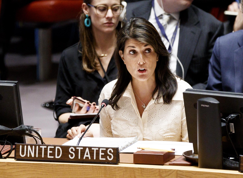 L'ambasciatrice americana all'Onu Nikki Haley
