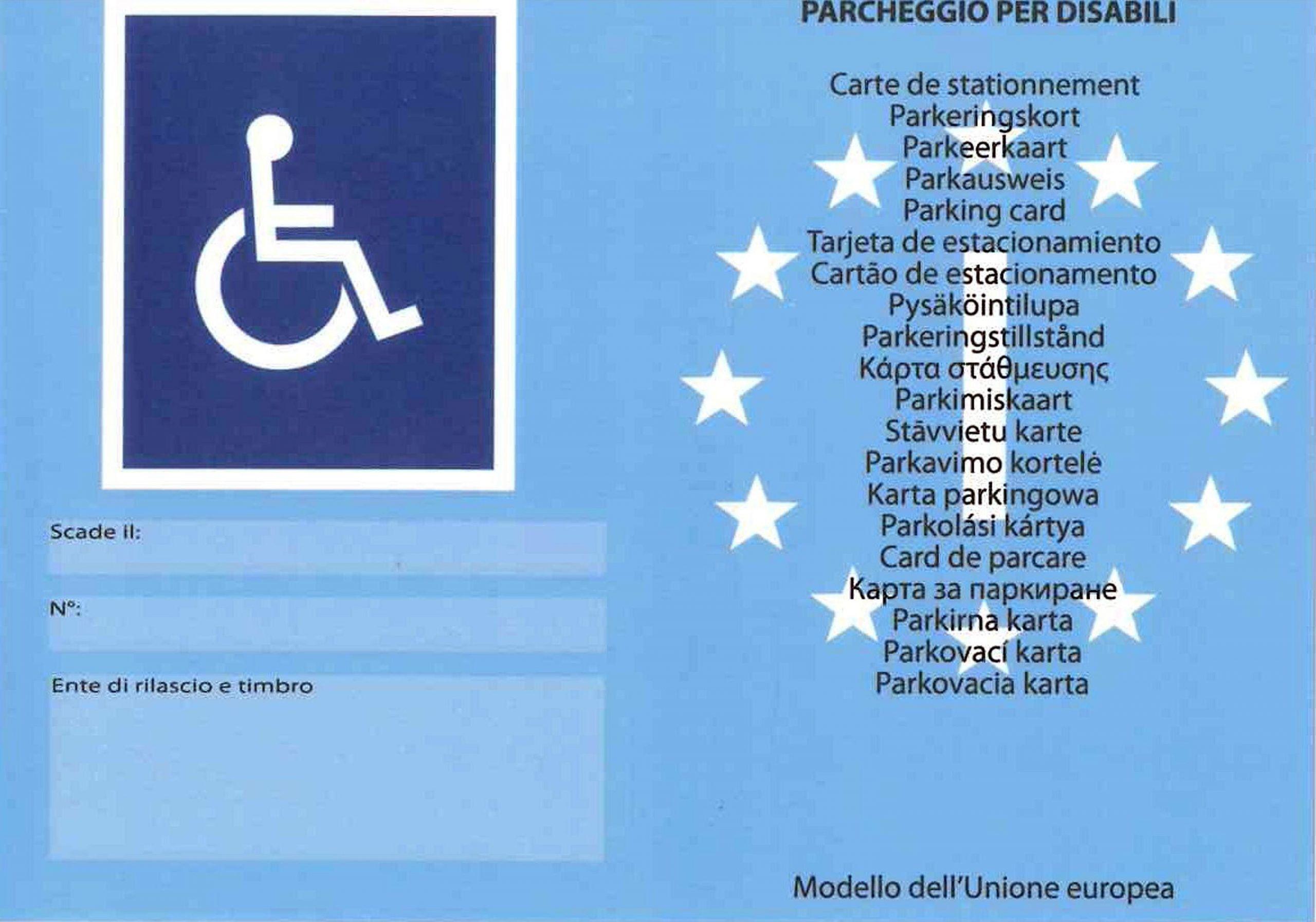 Legge 104, quando si può chiedere il contrassegno disabili auto
