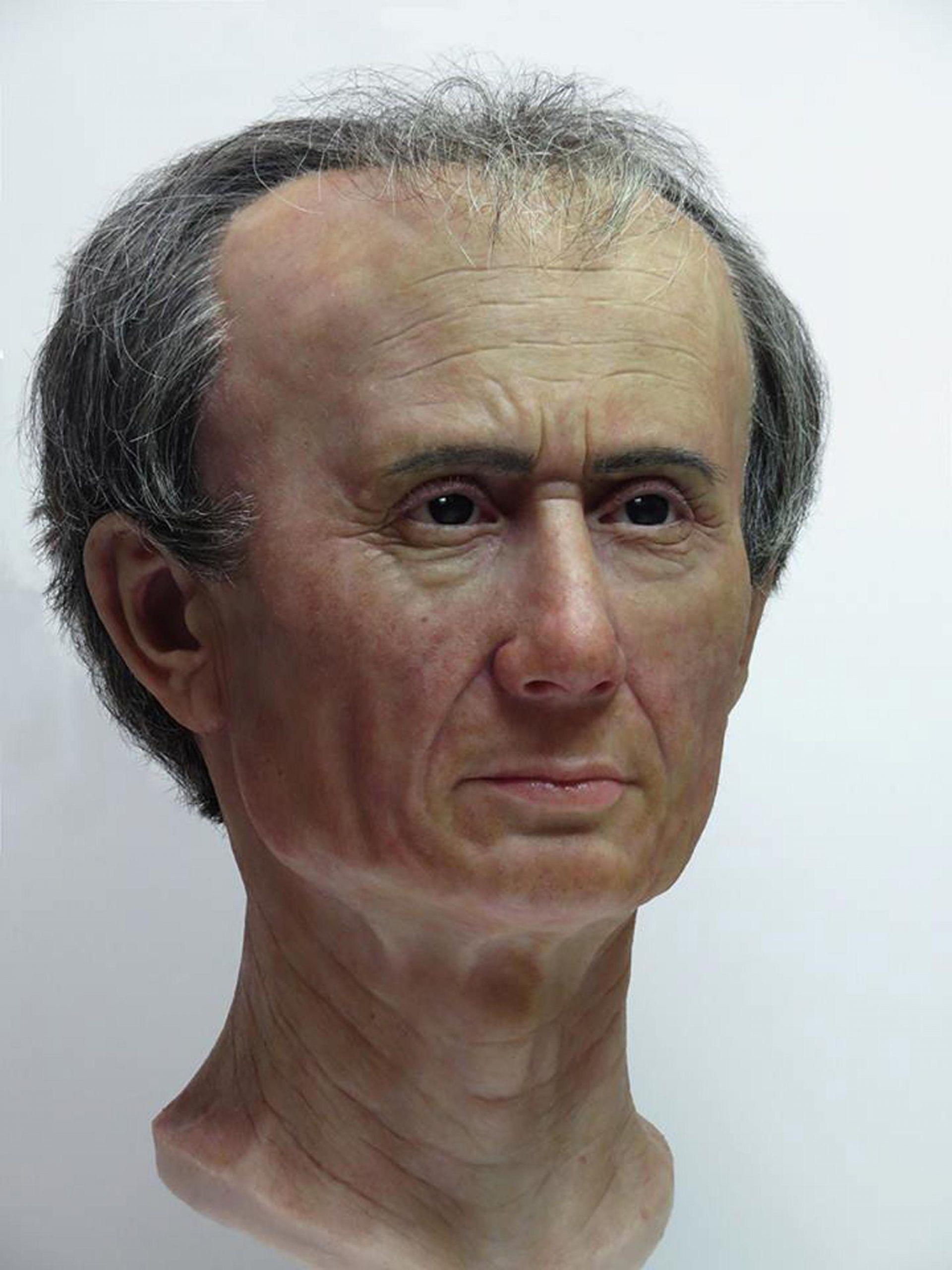 giulio cesare volto in 3D