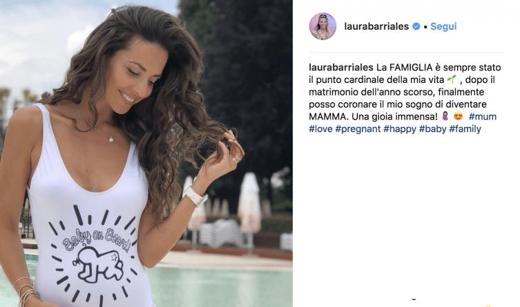 Laura Barriales è incinta, ha annunciato il lieto evento sui social