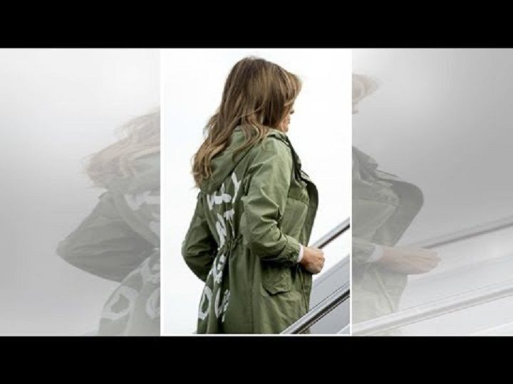 melania trump e la giacca