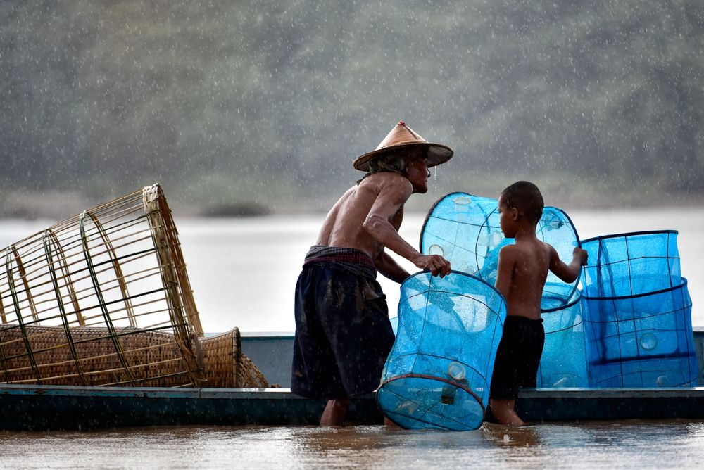 pescatori sul Mekong