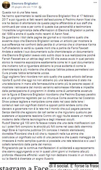 post eleonora brigliadori contro servizio pubblico