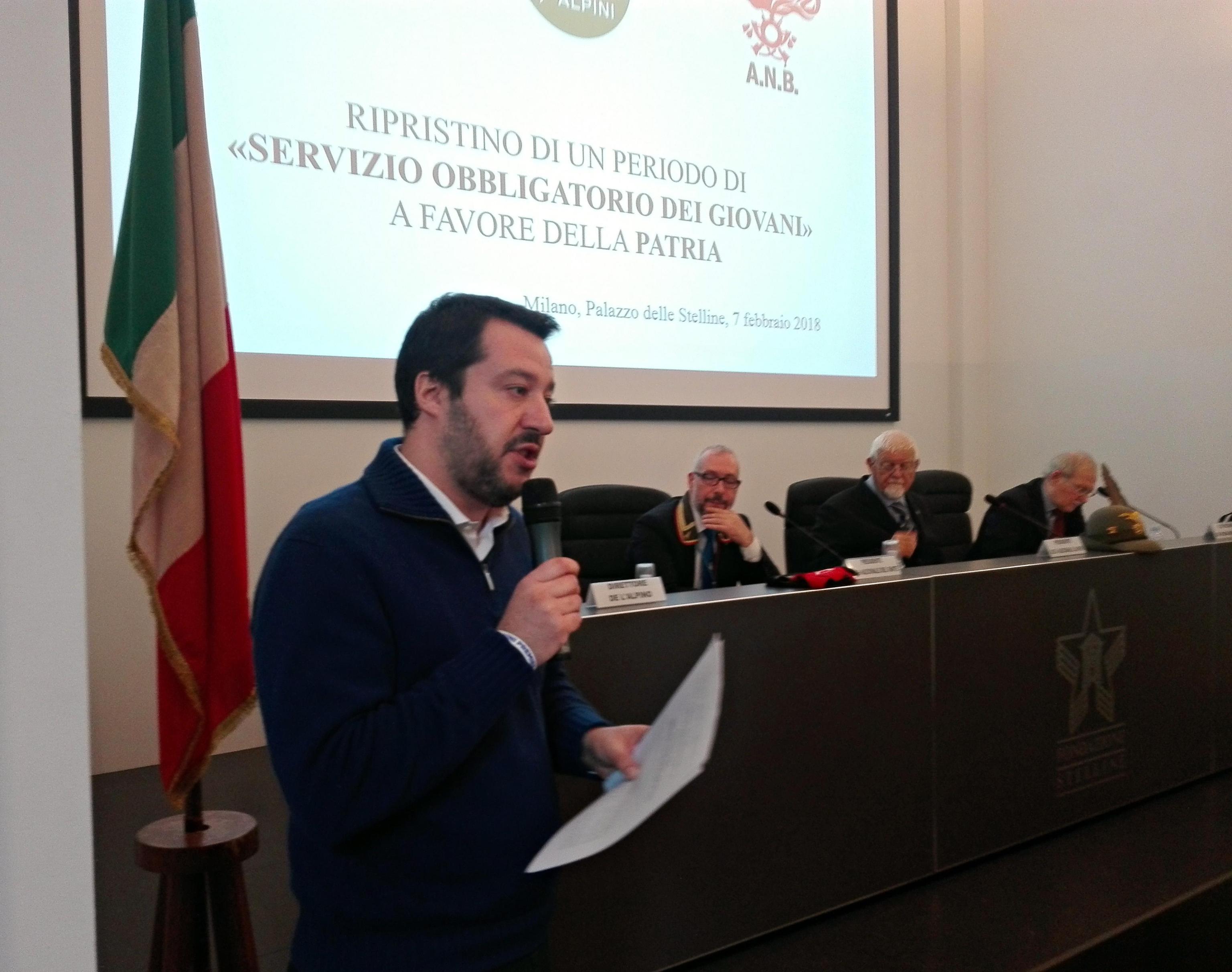 Salvini leva obbligatoria