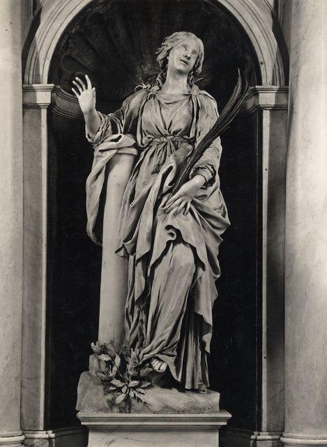 Santa Bibiana è tornata nella nicchia della chiesetta dell'Esquilino