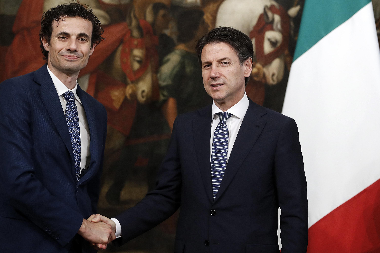 Davide Crippa e Giuseppe Conte