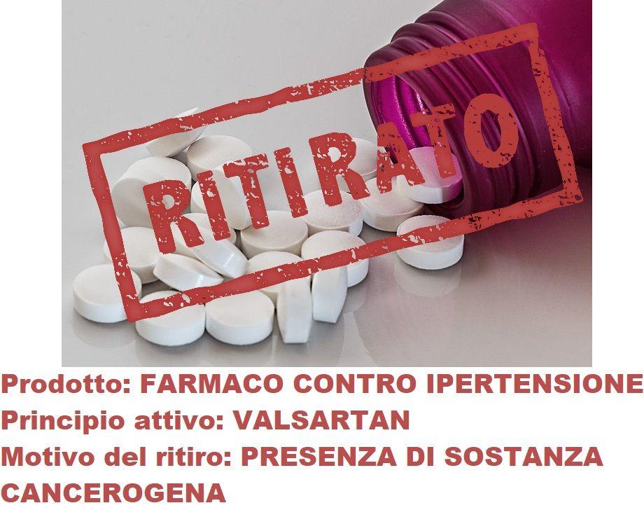 Farmaco contro ipertensione ritirato