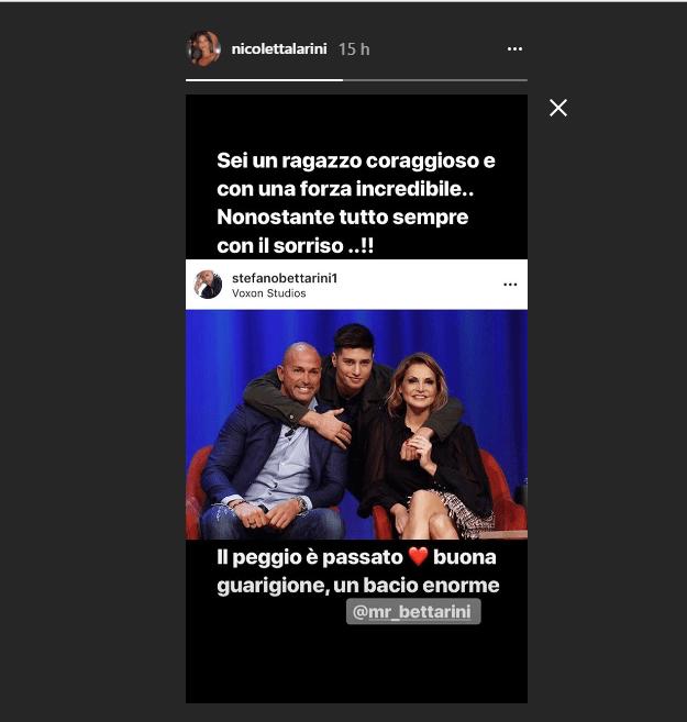 Nicoletta Larini il messaggio per niccolò