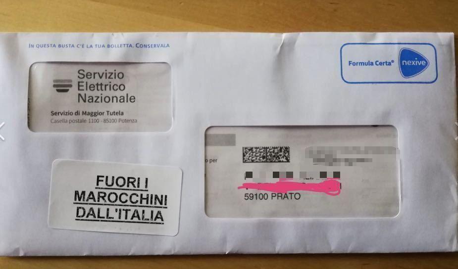 Prato shock, lettere con adesivo razzista: 'Fuori i marocchini dall'Italia'