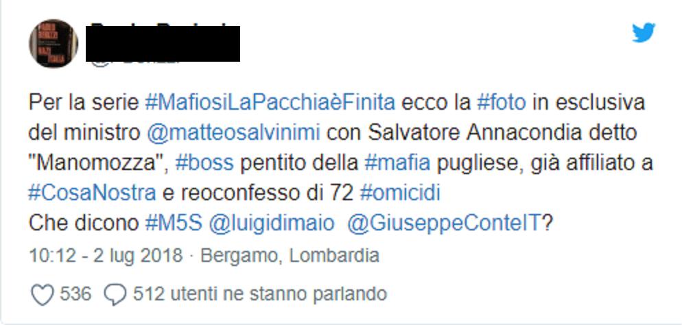 Salvini e il mafioso
