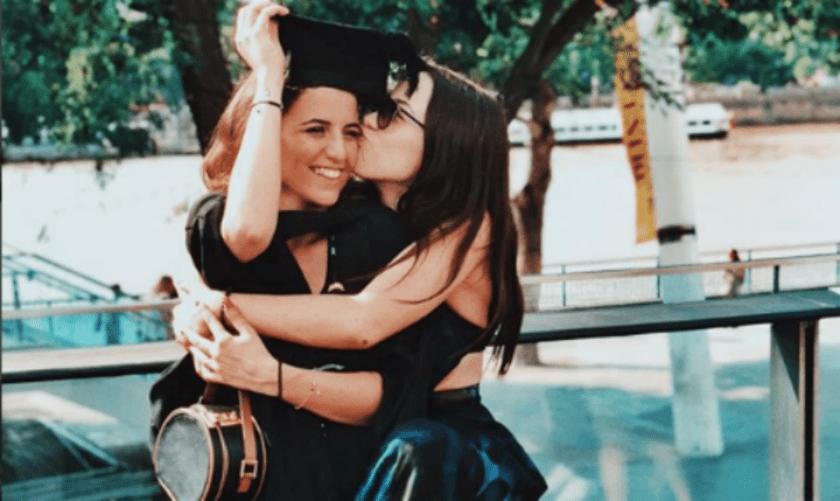 Sara Daniele laurea con lei Aurora Ramazzotti