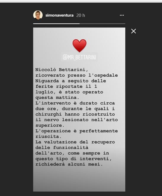 Simona Ventura e le condizioni del figlio Niccoloò