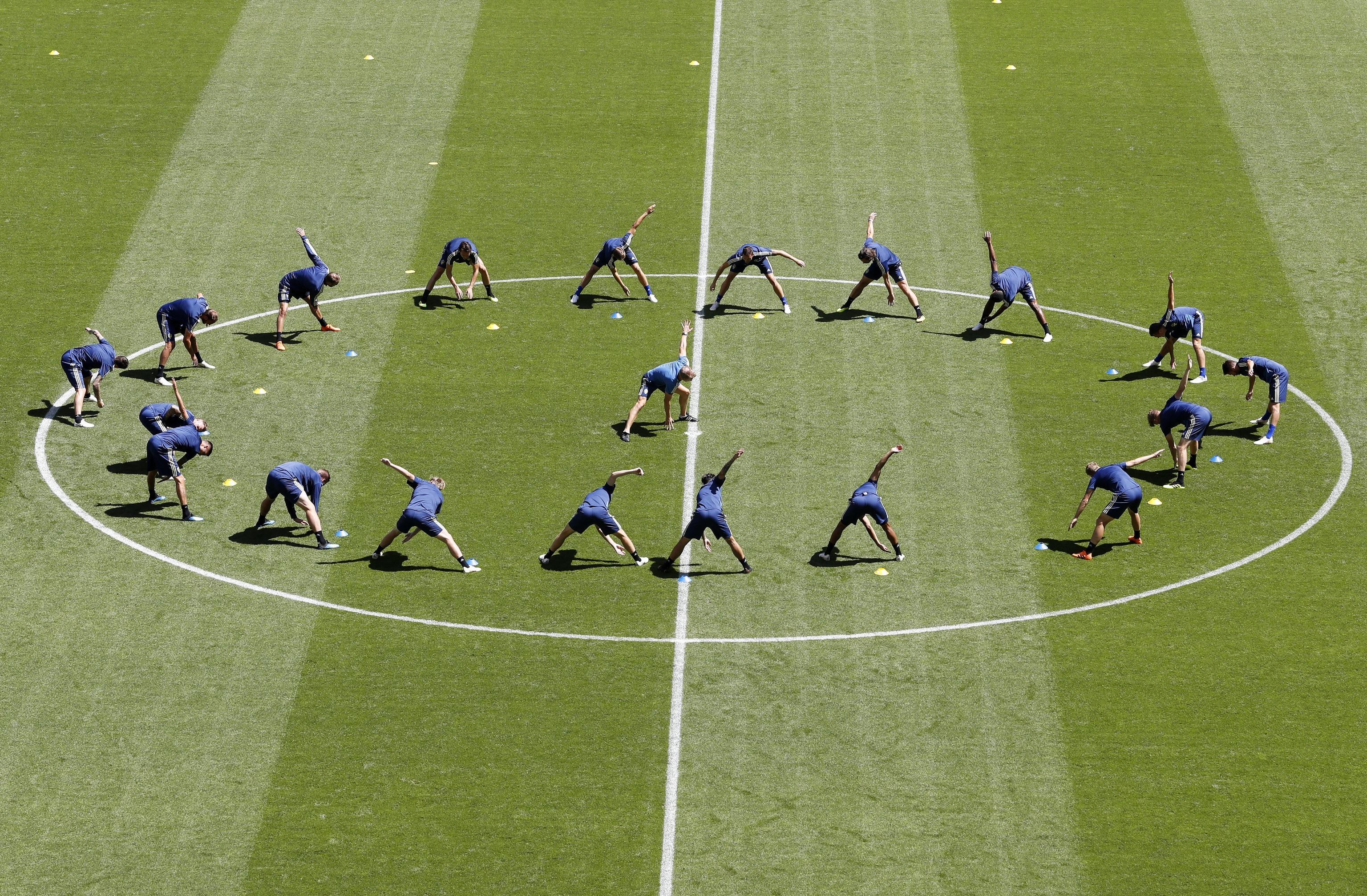 Sweden training