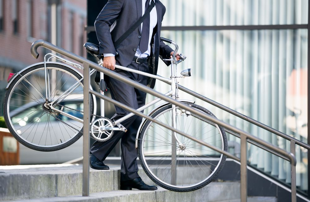 businessman in bici