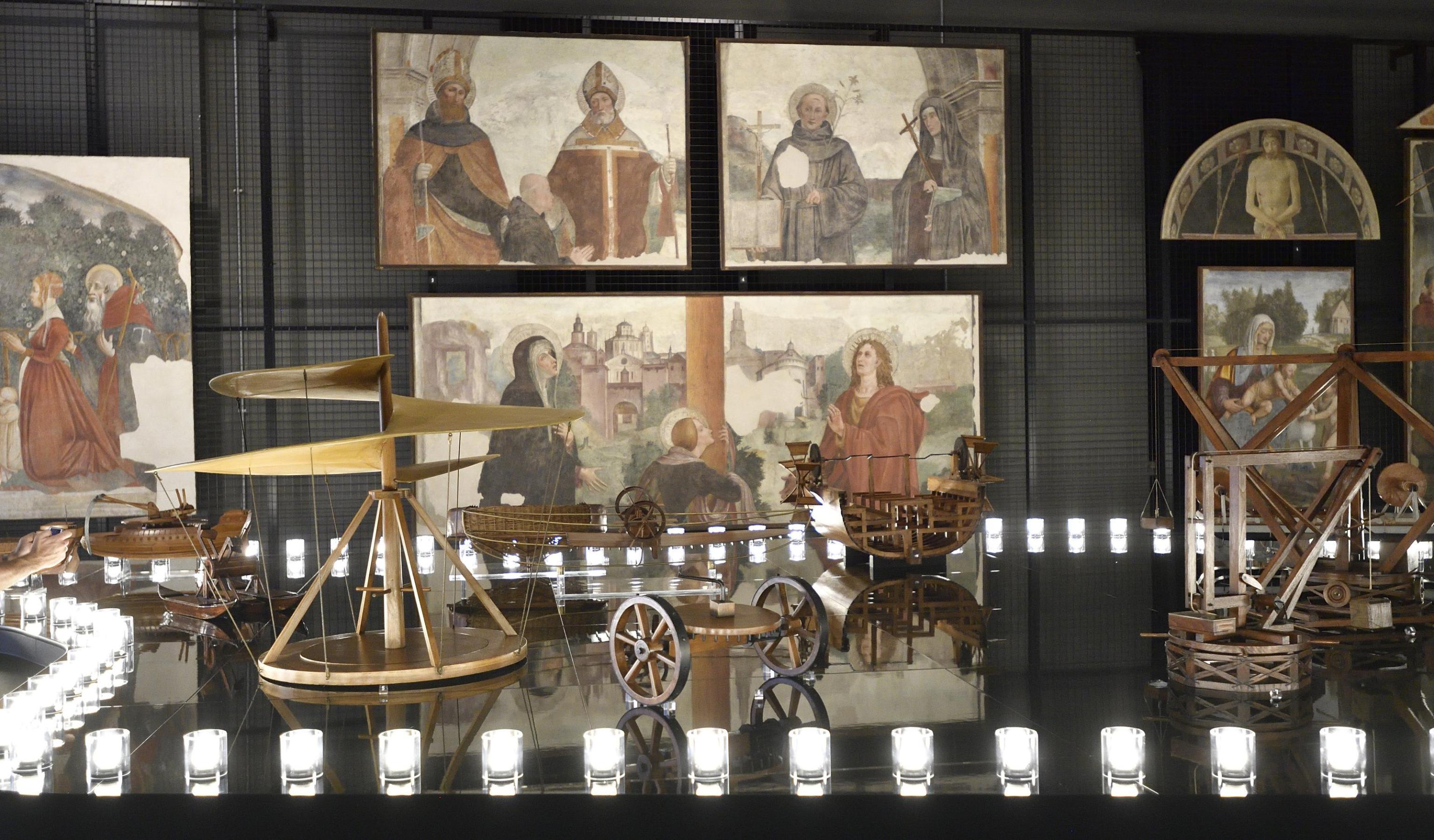 Mostra Leonardo da Vinci Milano 2018: al Museo della Scienza modelli storici ed affreschi