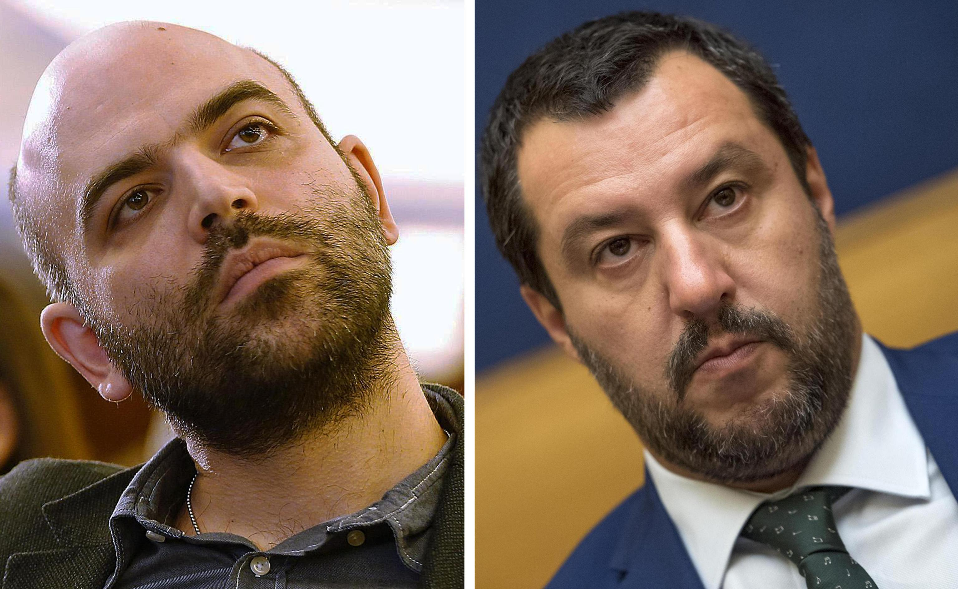Roberto Saviano indagato per diffamazione dopo la denuncia di Salvini