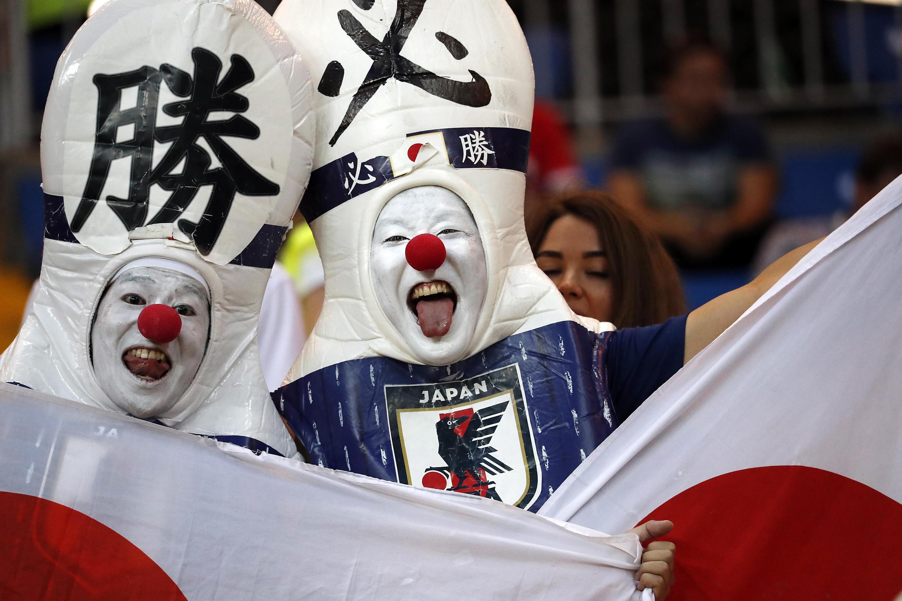 Tifosi giapponesi al mondiale in Russia 2018