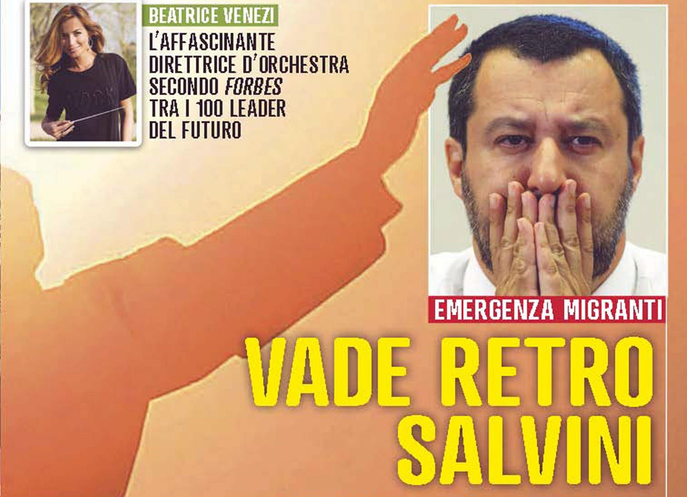 Migranti: Famiglia Cristiana, 'vade retro Salvini'
