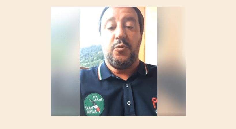Salvini indossa maglia Alpini