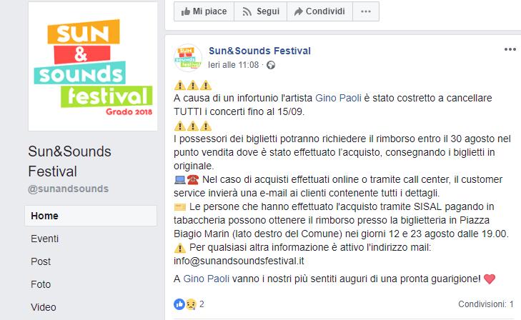 Sun and sounds festival gino paoli