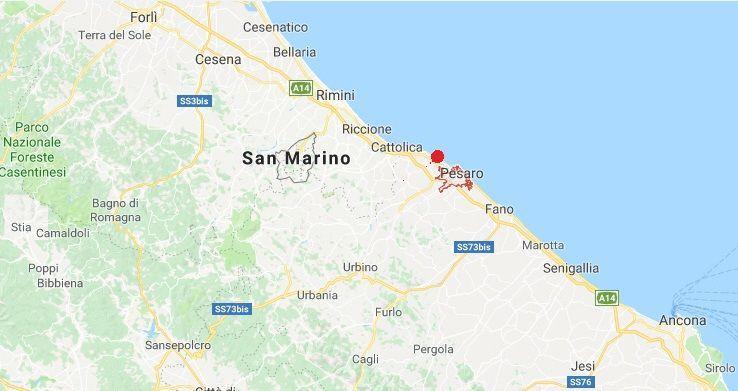 Terremoto a Pesaro: scossa di magnitudo 3.7 avvertita anche in Emilia