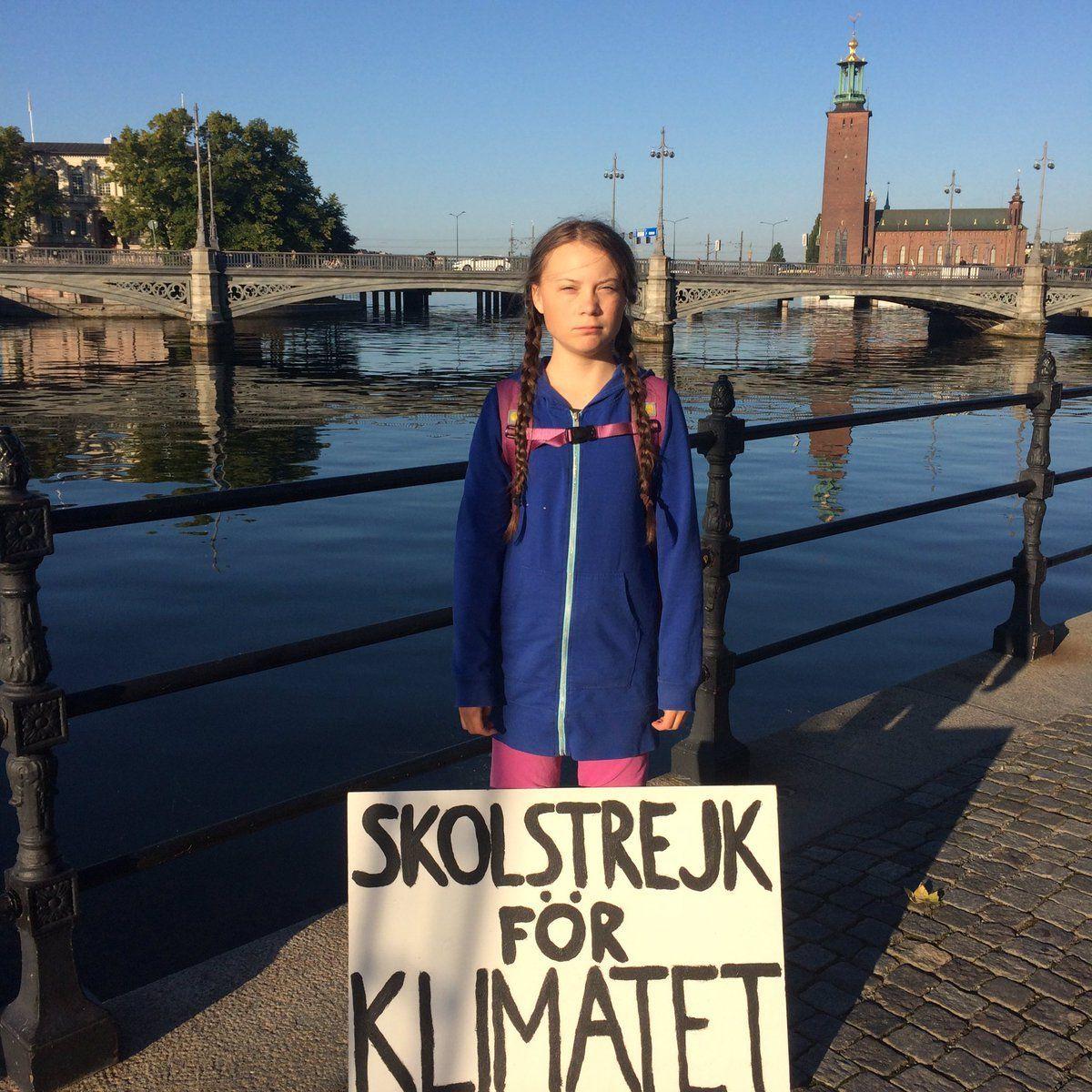 A 15 anni sciopera per il surriscaldamento del pianeta: 'Gli adulti sputano sul mio futuro'
