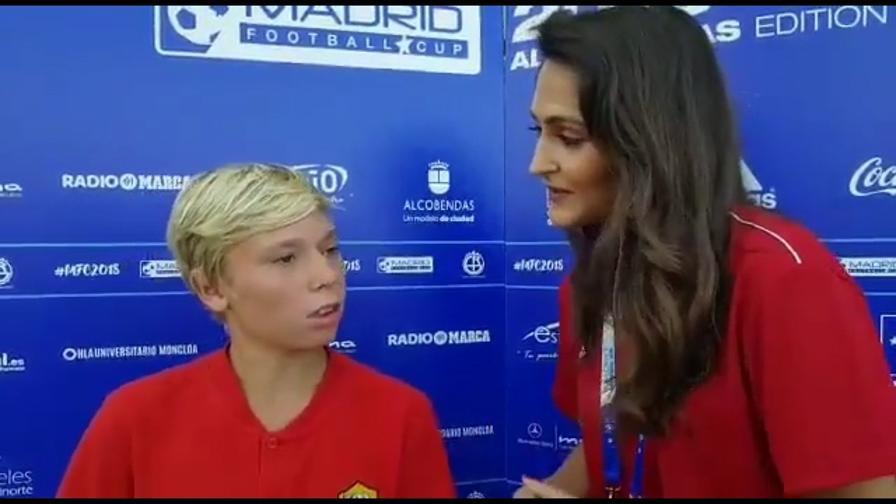 Cristian Totti parla inglese a Madrid