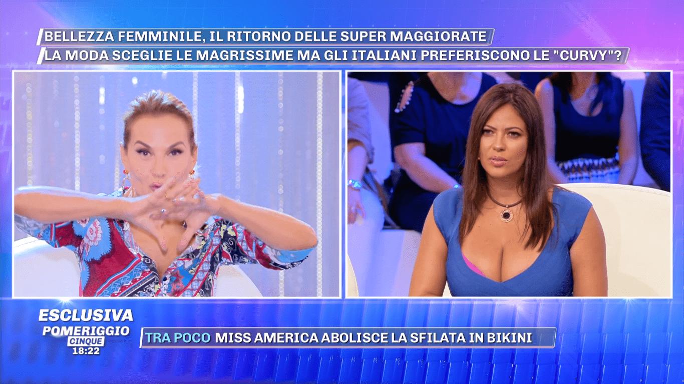 Fabiana Britto a Pomeriggio Cinque: 'Non sono volgare, Justin Mattera ha postato una foto con la pat***a di fuori'