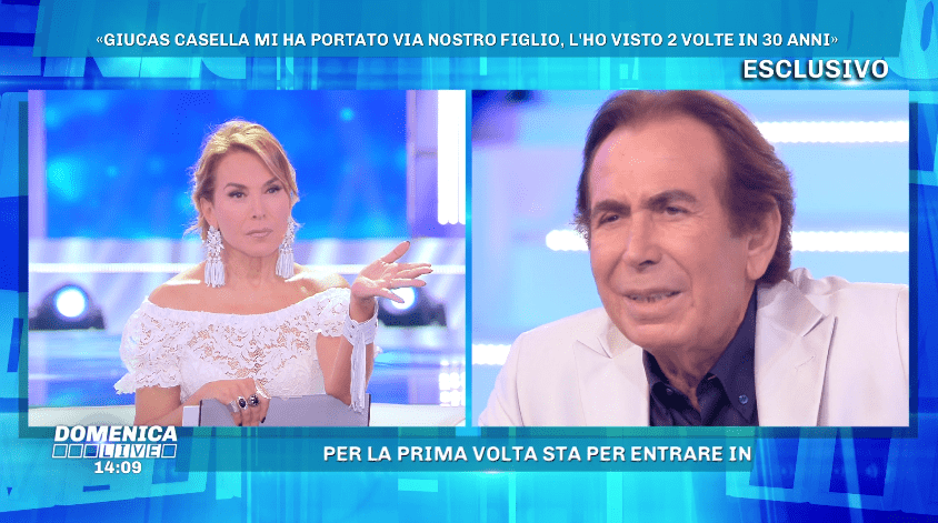 Domenica Live, Giucas Casella contro la madre del figlio James: 'E' fuori di testa'