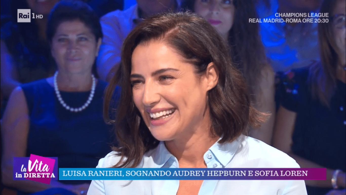 Luisa Ranieri in lacrime a La Vita in diretta: 'Noi donne abbiamo una marcia in più'