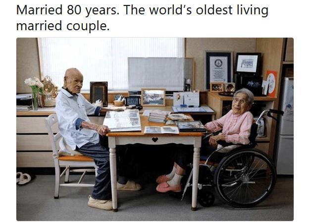 Matrimonio da Guinness: Masao Matsumoto e Miyako sposi da 80 anni