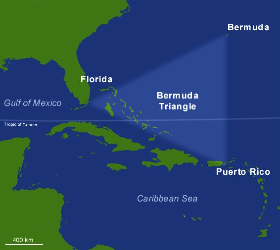 luoghi più misteriosi della terra triangolo bermude