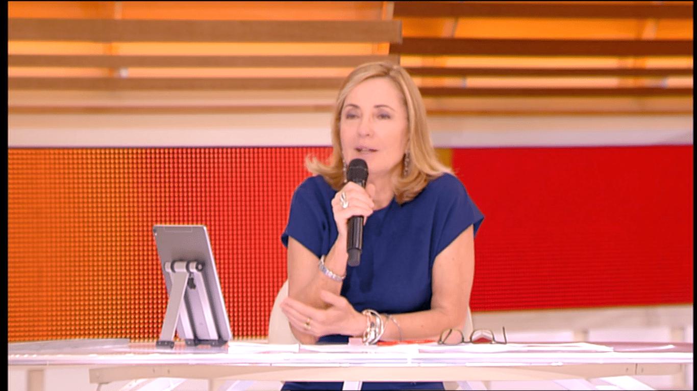 Barbara Palombelli risponde a Eleonora Giorgi sullo stipendio di Paolo Ciavarro