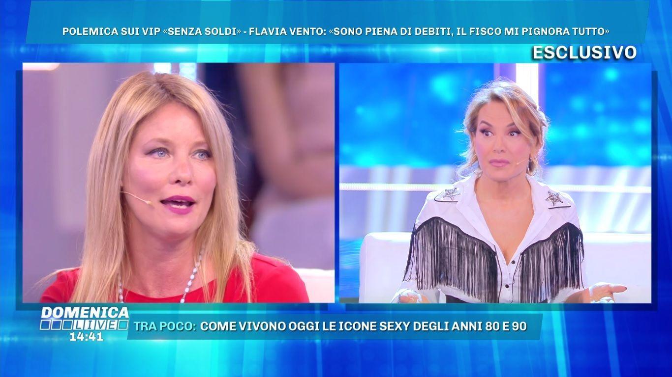 Flavia Vento a Domenica Live: 'Sono piena di debiti, presa in giro dallo Stato italiano'