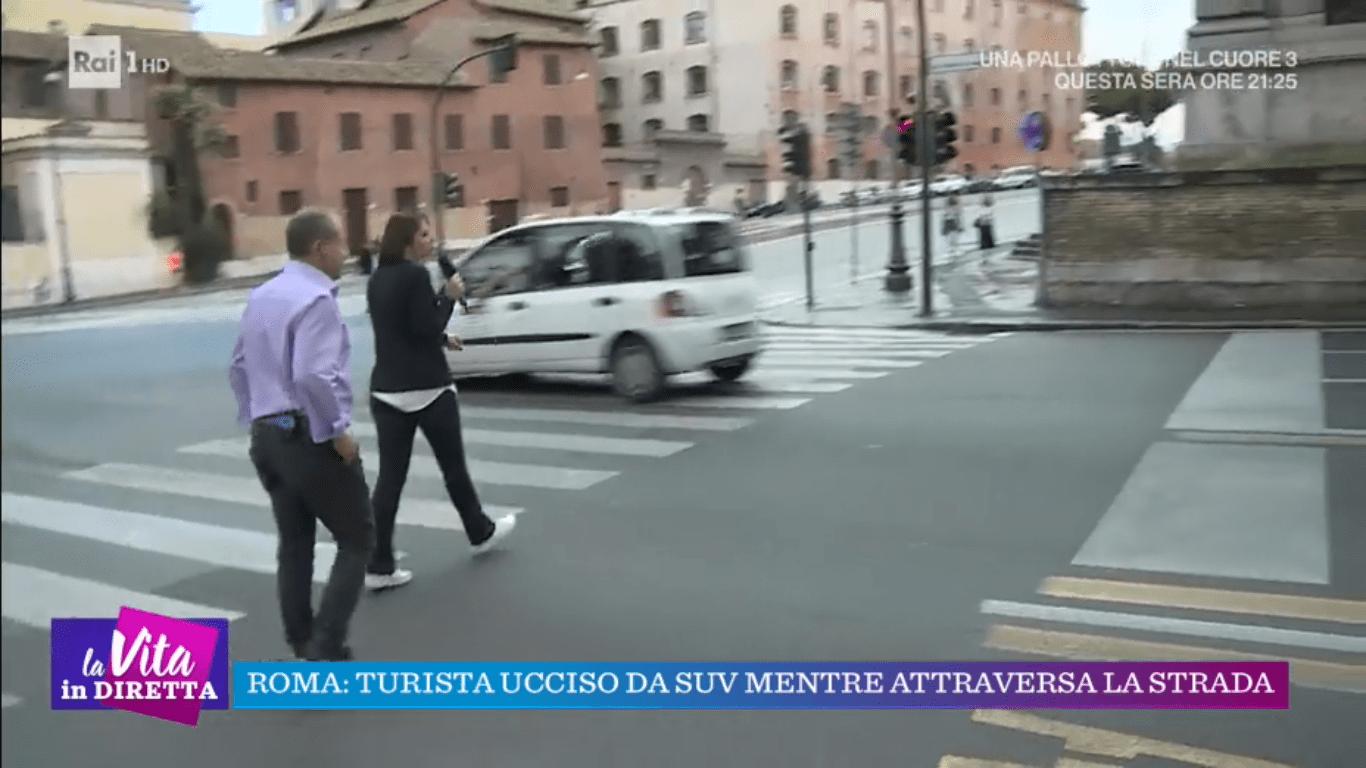 Tiberio Timperi rimprovera l'inviata in diretta: 'Non è un esempio da seguire'
