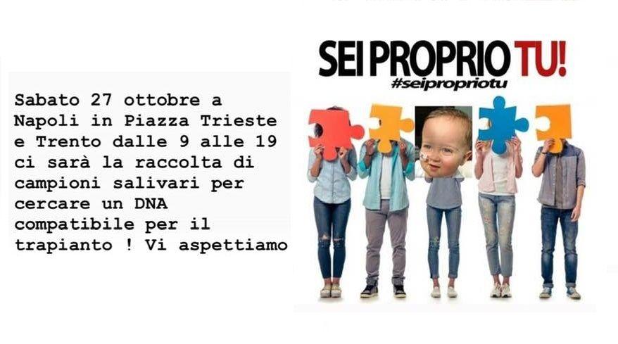 Napoli: cercasi donatore di midollo per salvare un bimbo di un anno