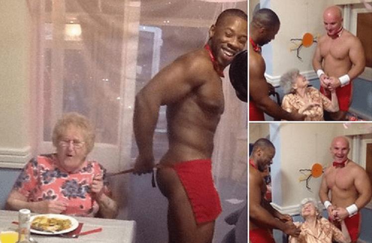 Camerieri nudi servono la cena alle pensionate in casa di cura