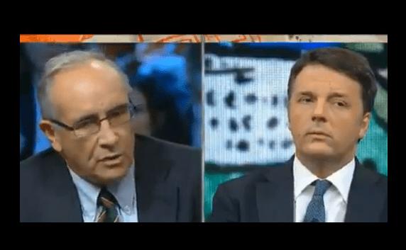 Matteo Renzi contro Massimo Franco a DiMartedì, chi ha ragione? [VIDEO]