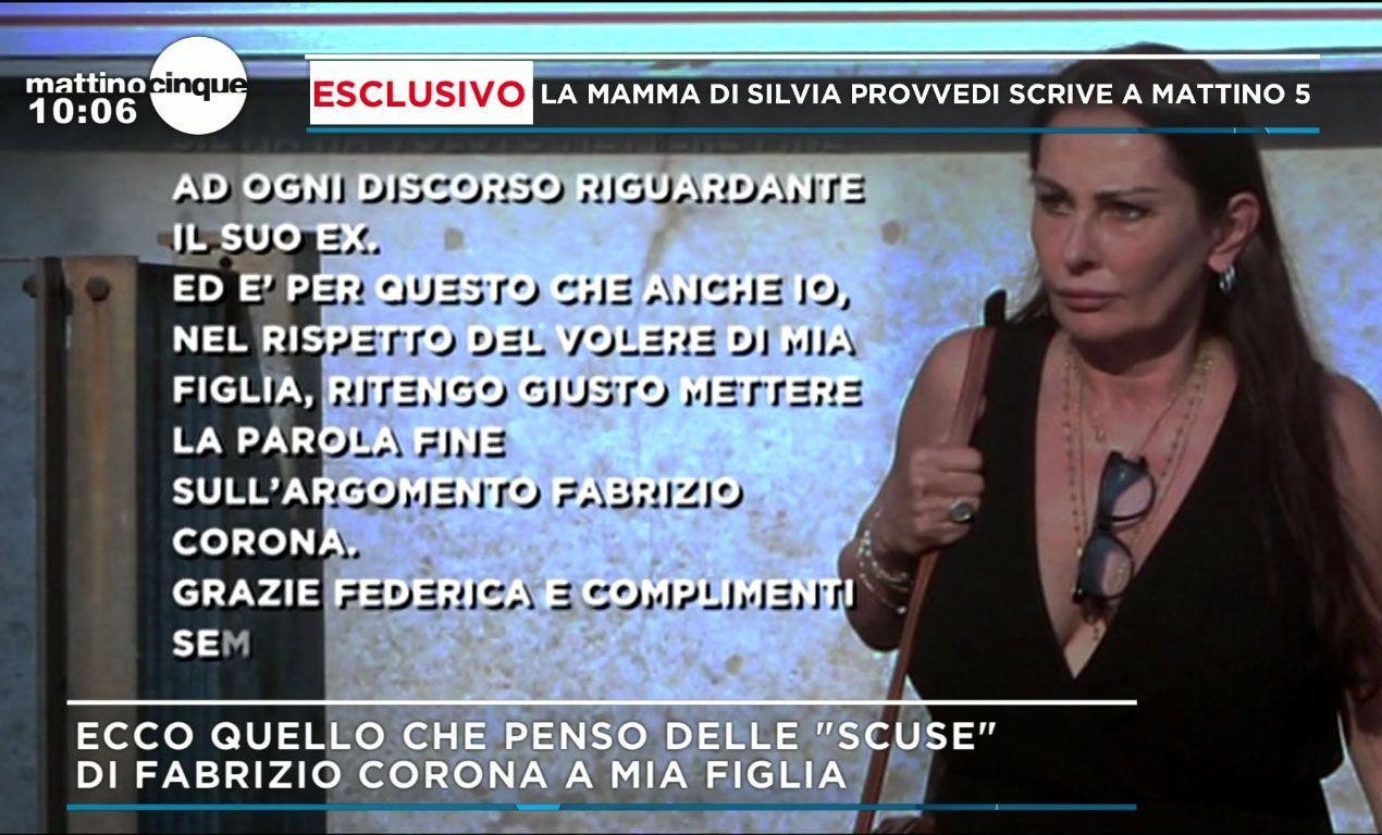 Madre di Silvia Provvedi Fabrizio Corona