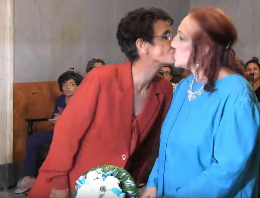 Palermo: 45 anni dopo la 'fuitina' Rosalia e Salvatrice si sono sposate