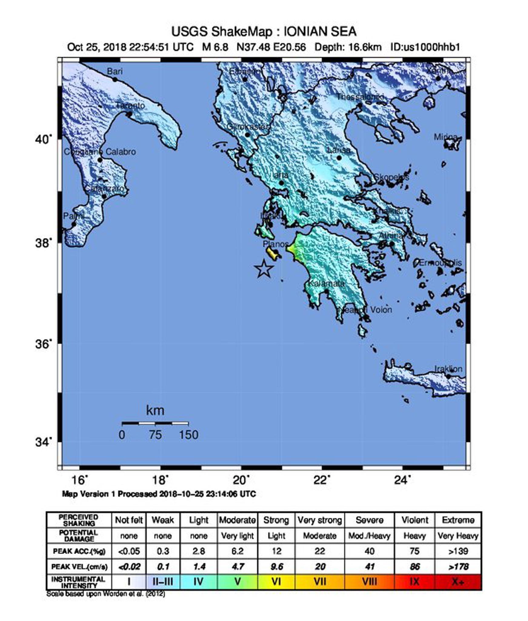 Terremoto in Grecia: scossa di magnitudo 6.8 a Zante, sisma avvertito anche in Italia