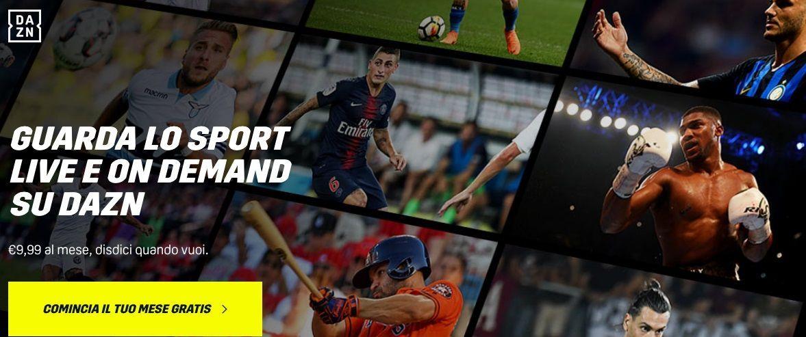 Con DAZN provi gratis per un mese il meglio del calcio e dello sport
