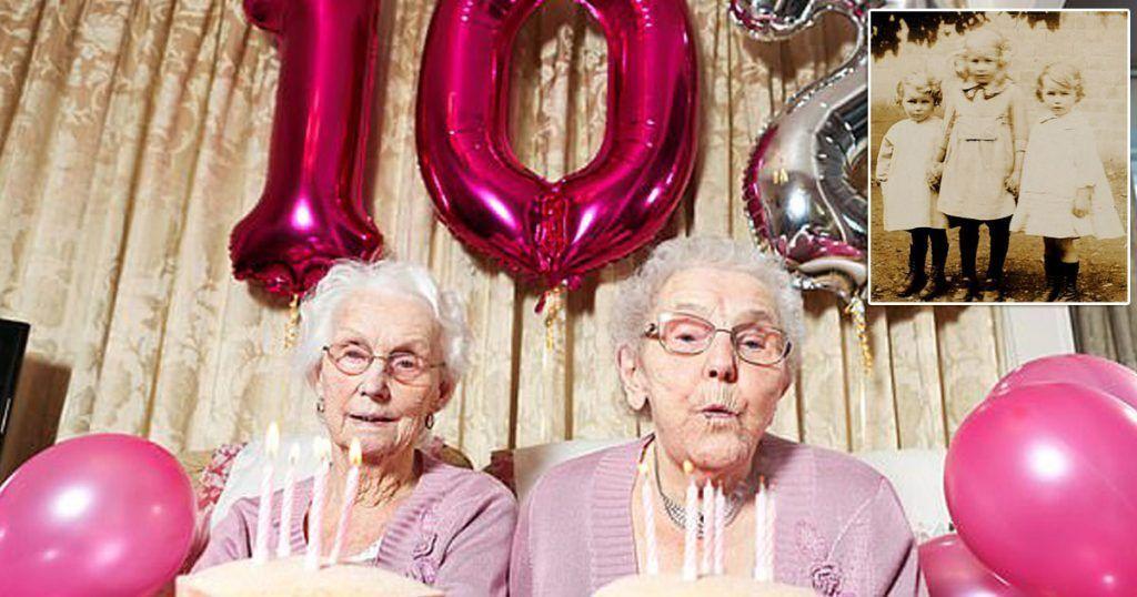 Le nonnine gemelle compiono 102 anni e svelano il segreto della longevità
