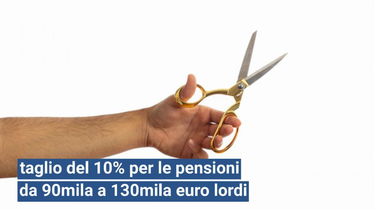 Pensioni d'oro ultima ora: tagli in cinque scaglioni
