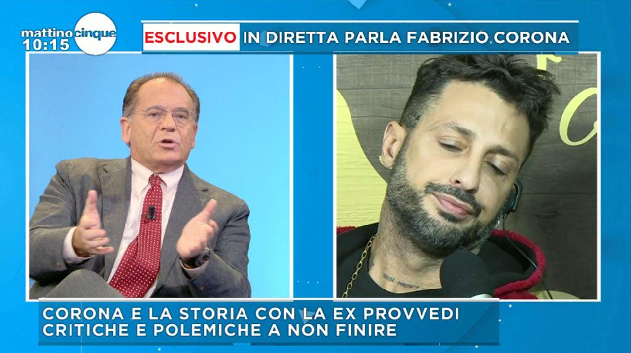 Fabrizio Corona Mattino 5 Cecchi Paone