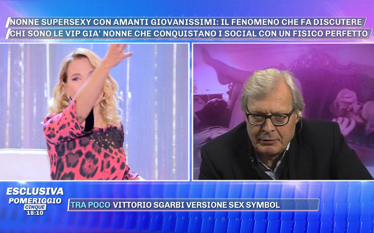 Vittorio Sgarbi a Barbara D'Urso: 'Sei trash, ma Uomini e Donne è persino peggio'