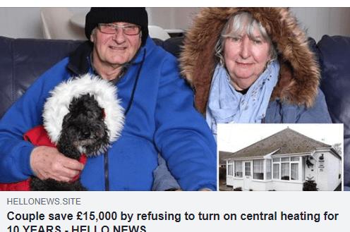Coppia di anziani vive senza riscaldamento da 10 anni: 'Con i soldi risparmiati andiamo ai concerti'