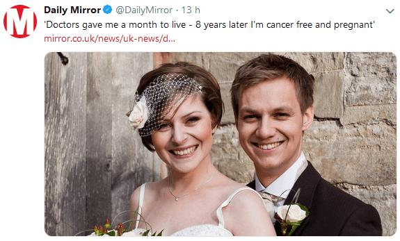 'Il cancro mi lasciava un mese di vita, 8 anni dopo sono incinta'
